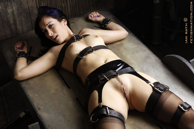 The slave is on the table...; Bdsm