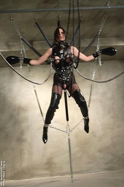 Has surprised female rubber self bondage construction site know