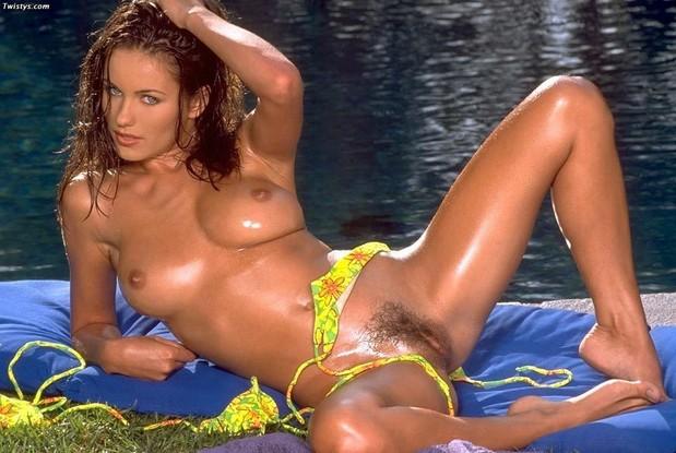Kyla Cole oiled up in a bikini; Hot