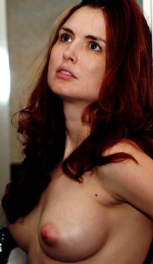 Sexy red head in need of a giant cock to satisfy her.; Masturbation Petite Red Head