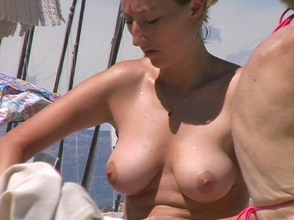 woman amateur bare breasts