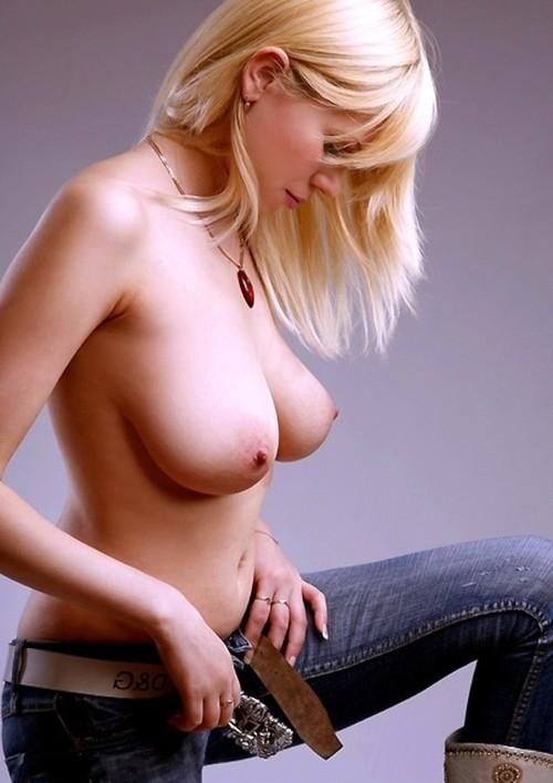 Jeans Gal; Babe Big Tits