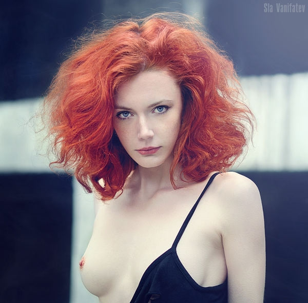look; Babe Red Head