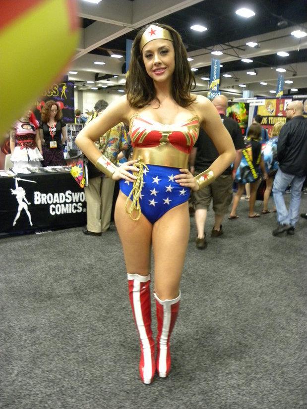Wonder Woman at Comic Convention; Funny Uniform