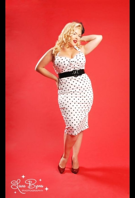 Pin up girl fashion plus size 2