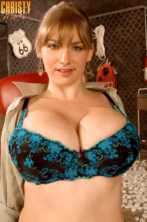 Christy Marks 38; BBW Big Tits Brunette