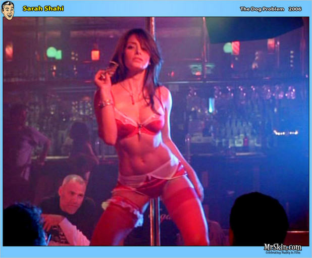 Sarah Shahi gives hot striptease; Celebrity Hot