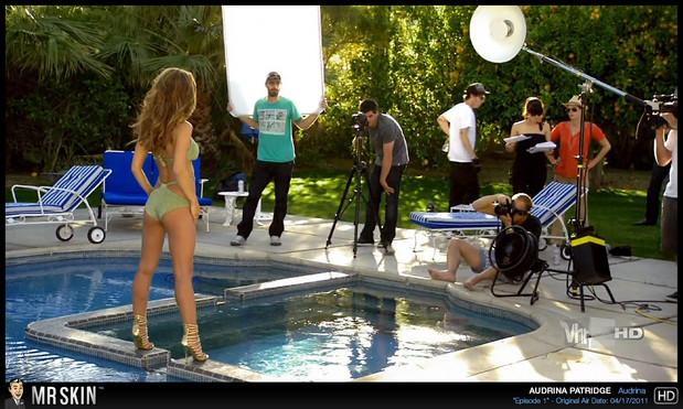 Audrina Partridge backside bikini shot; Celebrity Hot