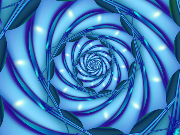 I thought this hypnotic erotic blue spiral was arousing.; Hot