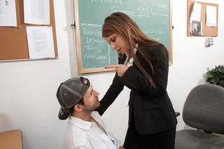 Jenla Moore & Kris Slater in My First Sex Teacher - Naughty America; MILF Pornstar Hot