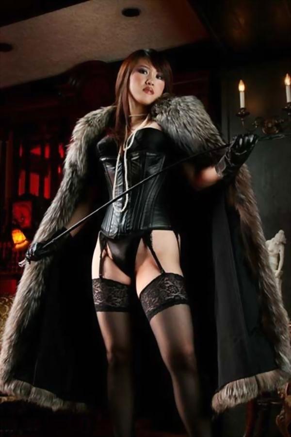 asian mistress with crop; Asian Babe Brunette Femdom
