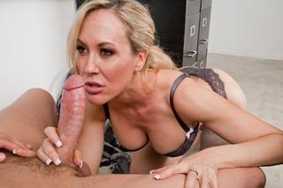 Brandi Love & Xander Corvus in My First Sex Teacher - Naughty America; Blonde Blowjob MILF Cougar Lingerie