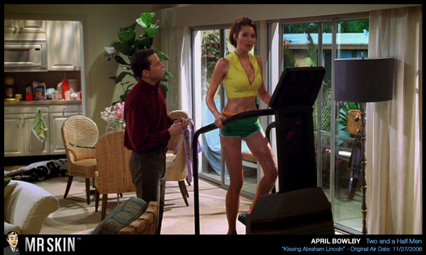 April Bowlby works up a sweat; Celebrity