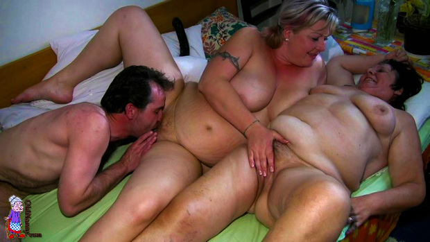 Hairy mature threesome