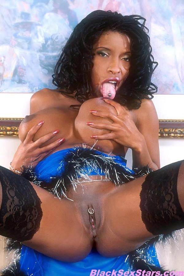 Vanessa Blue; Big Tits Ebony Pornstar
