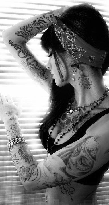 ...; Brunette Non Nude Tatoos