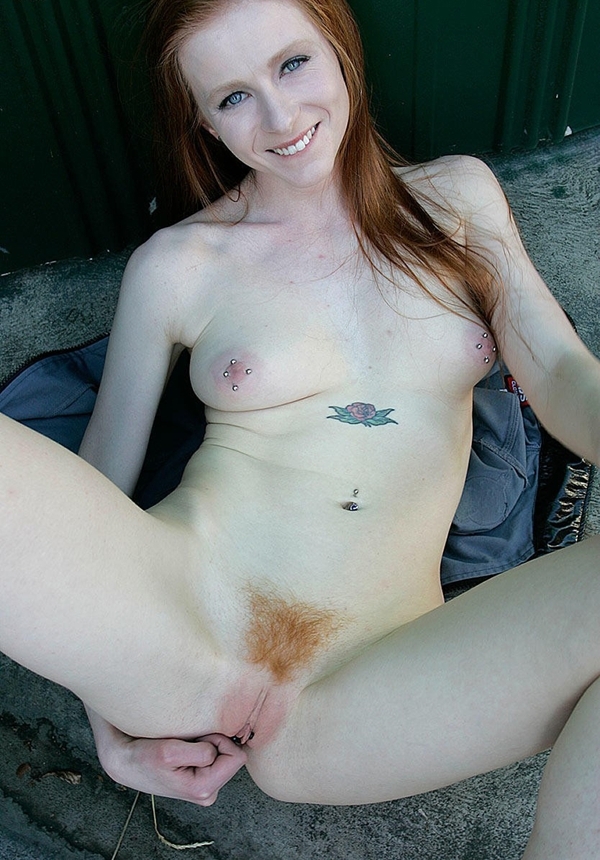 Red head masturbates with her new vibrator till she cums 4
