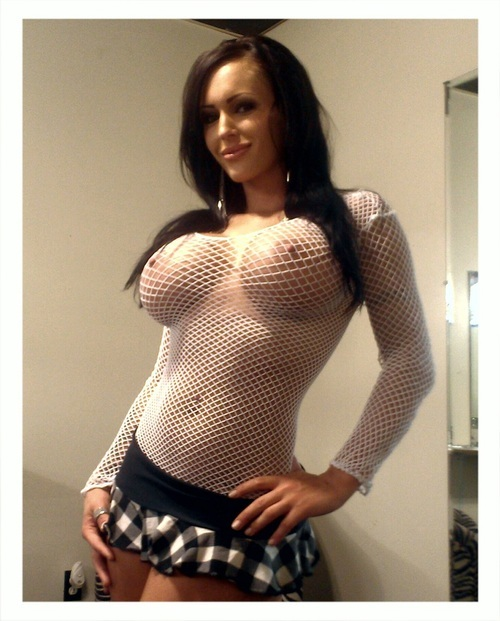 ...; Big Tits Brunette Fishnetop Non Nude Pornstar Shortskirt